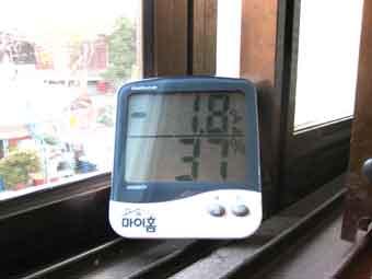 2005/12/03 07:44 서울의 바깥 온도 -1.8도