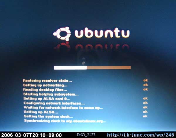 Ubuntu Live CD Booting...