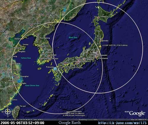 日本の標準電波の受信範囲(JJY Coverage Area)