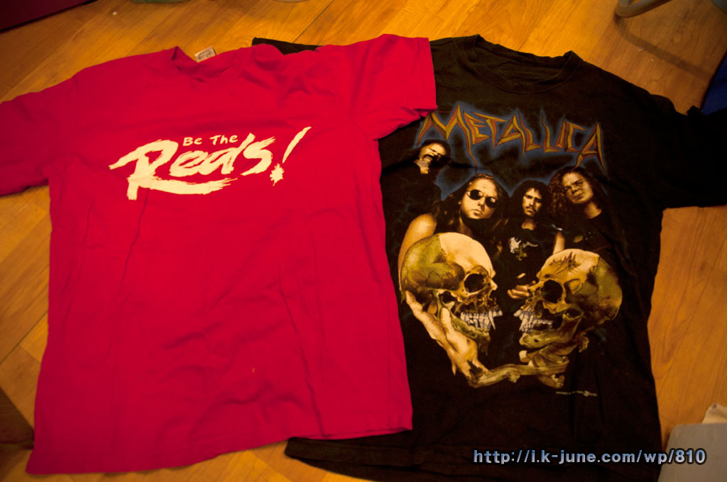 Be the reds & Metallica Tshirts