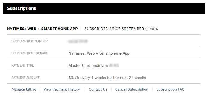 웹+스마트폰 앱 구독 24주동안 4주당 3.75달러.