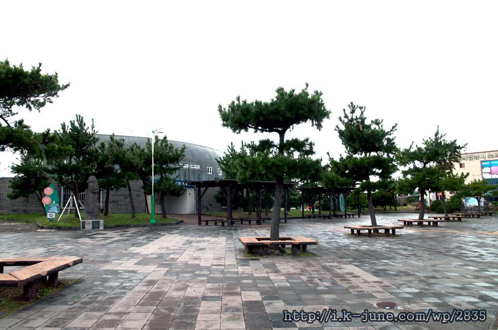 용담 레포츠공원 앞의 모습