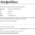 뉴욕타임스 구독 결국 취소했다.