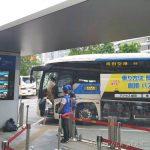 도쿄시내 도쿄역에서 나리타공항 가는 1000엔 버스를 타려면 야에스 남쪽 출구(八重洲 南口)로 나와서 7번 승강장에서 파란색 버스를 타야 한다.