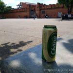 관광객도 없고 비둘기도 없는 오후 세시의 타패게이트(ประตูท่าแพ,Tha Phae Gate) 앞 나무그늘 아래에서 마시는 맥주 한캔의 여유
