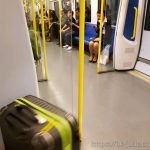 수완나품 공항에서 방콕 시내까지 공짜로 지하철을 타고 갔다.